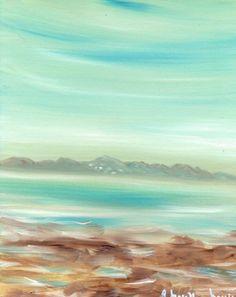 "Ref.05 Oleo Impresionista ""Playa de Las Canteras"" de Alicia Morilla Massieu URL http://myworld.ebay.es/morilla_massieu"