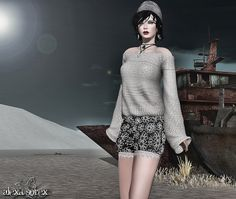 Glam Affair - Mokatana - ( Happy Xmas//***Urban Cherry*** Michelle Shoulder Blouse Gacha #1 RARE