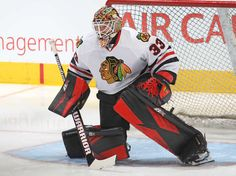 Scott Darling #33 of the Chicago Blackhawks