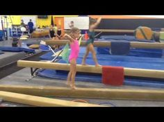 At our gym, we don't compete level 3 in usag. We compete in a local league and the bar routine takes out the shoot through/stride circle and undershoot and r. Preschool Gymnastics, Gymnastics Party, Gymnastics Coaching, Gymnastics Stuff, Tumbling Tips, Gymnastics Levels, Back Handspring, Balance Beam, Baby Gym