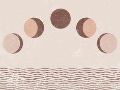 Moon Phase, Moon Poster, PRINTABLE, Boho Poster, Moon Phases, Moon Painting, Modern Wall Art, Bohemian, Minimalist Art, Coastal, 70s, 1970s