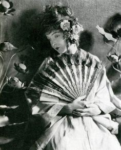 Lillian Gish, 1920, in a photo by James Abbe, promotion for silent film--'Broken Blossoms'