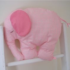 Molly, an extra large pink elephant who will soon be joining her sister Prue in Toronto.  www.blossomhill.etsy.com