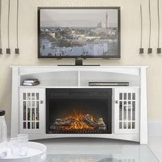 stone electric fireplace entertainment center - Google Search ...