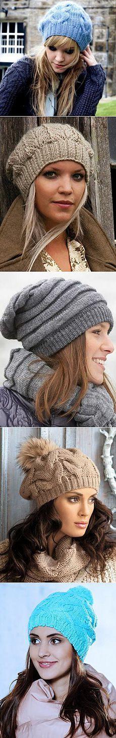 Модные вязаные шапки для зимы 2015 года / Все для женщины