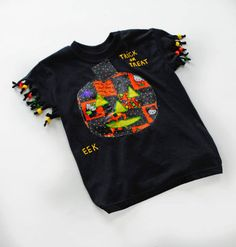 technique for diy halloween kid shirt - Homemade Halloween Shirts