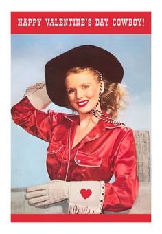 Vintage Cowgirl Valentine