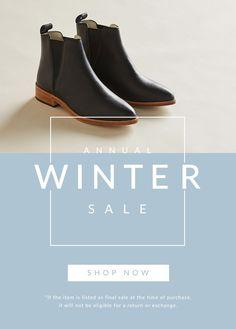- Sales Email - Ideas of Sales Email - Shop Womens Winter Sale. Web Design, Design Layouts, Design Shop, Flat Design, Email Design Inspiration, Fashion Banner, Email Marketing Design, Promotional Design, Newsletter Design