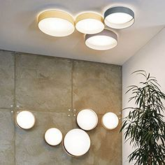 LICHT-TREND LED-Deckenlampe PALO / 13,3W Ø32cm / Textilschirm Taupe: Amazon.de: Beleuchtung
