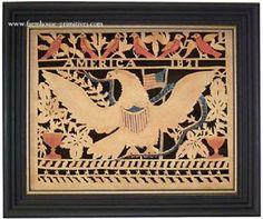 Americas Eagle Scherenschnitte...Love it....