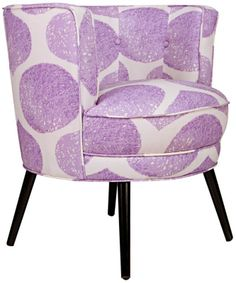 angelo:HOME Lily Lavender YoYo 30-Inch-H Accent Chair - #EU2V776 - Euro Style Lighting
