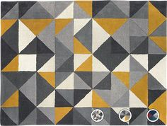 Henrik Large Hand Tufted Wool Rug 160 x 230m, Mustard and Grey from Made.com. Yellow/Grey. Henrik. A rug that's as much a piece of art as a floor-co..