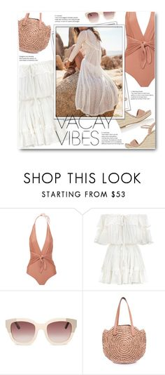"""***"" by len-chica ❤ liked on Polyvore featuring ADRIANA DEGREAS, Zimmermann, Barneys New York, BeachPlease and vacayoutfit"