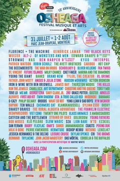 Osheaga poster-  I am heart broken to miss this weekend once more.  Two years and it feels like it was yesterday!  Those memories will stay with me forever, what a wonderful festival!