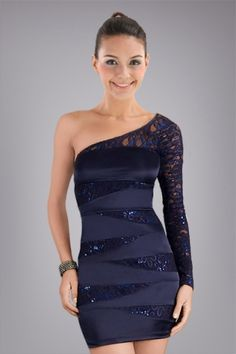 enthralling-oneshoulder-sheath-cocktail-dress-with-sequins-and-lace