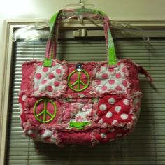 PINK AND GREEN PATCHWORK PURSE!! Great patchwork purse. Vibrant pink and green colors!! With a big diamond button closure and zipper!! Great condition!! Bags