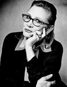 Carrie Fisher photographed by Gavin Bond, 2016