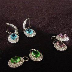 Gemstone Interchageable Earrings   BJ-03   Camrose & Kross
