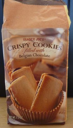 Trader Joe's Crispy Cookies Filled With Belgian Chocolate!