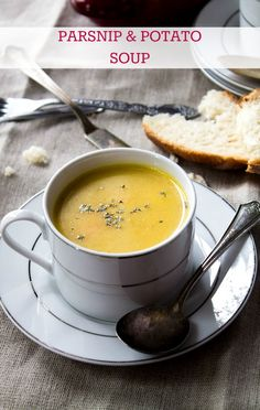 A recipe for homemade, comforting, creamy, and incredibly delicious Parsnip and Potato Soup!