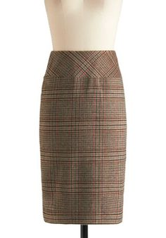 Plaid  to Your Resume Skirt, #ModCloth
