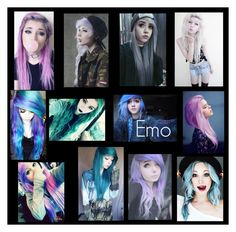 """""""Emo Hair"""" by tamerine on Polyvore featuring art"""