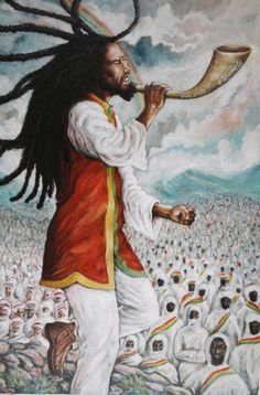 The Last Trumpet Orrett Oliver Francis Art Print Black Girl Art, Black Art, Rastafari Art, Jamaican Art, Reggae Art, Afro Art, African American Art, Art World, Art Drawings