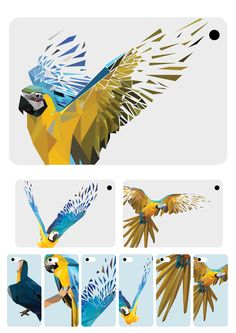Geometric Shapes Art Parrot on Behance Parrots Art, Geometric Animals, Shape Art, Mural Art, Geometric Symbols, Geometric Shapes Art, Art, Bird Art, Acrylic Painting Canvas