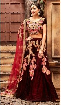 Circular Style Velvet Designer Lehenga Choli in Maroon Color | FH518378764 #heenastyle, #designer, #lehengas, #choli, #collection, #women, #online, #wedding , #Bollywood, #stylish, #indian, #party, #ghagra, #casual, #sangeet, #mehendi, #navratri, #fashion, #boutique, #mode, #henna, #wedding, #fashion-week, #ceremony, #receptions, #ring , #dupatta , #chunni , @heenastyle , #Circular , #engagement
