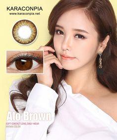 #カラコン #カラコンぴあ ★アトブラウン(Ato Brown) DIA 14.0mm★ 高級なブラウンカラーと独特な模様が調和しいっそうハッキリとした瞳をつくります。
