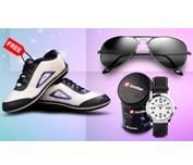 Lotto Watch, Sunglasses, Sports Shoes Combo - Hot Shopping Offers & Deals