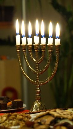 """The feast of """"Dedication"""" is called """"Hanukkah"""" in the Hebrew language. It is written in John """"And it was at Jerusalem the Feast of Dedic Hanukkah Menorah, Hannukah, Hanukkah Food, Jewish Art, Religious Art, Arte Judaica, Messianic Judaism, Practice What You Preach, Les Religions"""