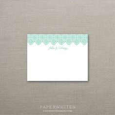 Quatrefoil Personalized Note Cards - SET OF 25 Cards