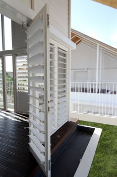 Breezway Louvres can be easily installed into bi-fold doors.