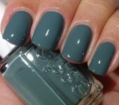 Essie - Vested Interest | Own this color, opaque and smooth greenish-grey. Really nice in winter #nailpolish
