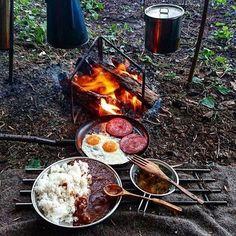 Camping Grill, Camping And Hiking, Camping Life, Camping Meals, Camping Hacks, Campsite, Camping Items, Backpacking, Tent Camping