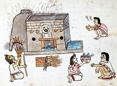 aztec house | Pic 7: An Aztec sweat bath, presided over by Tlazolteotl, the goddess ...