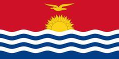 "Kiribati Motto:  ""Te Mauri, Te Raoi ao Te Tabomoa"" Capital: Tarawa Official Language: English, Gilbertese Government: Republic Currency: Kiribati Dollar Driving: left Religion: Christianity Flag:  -sun rays: 16 Gilbert Islands + Banaba -3 waves: Gilbert, Phoenix, Line Islands"
