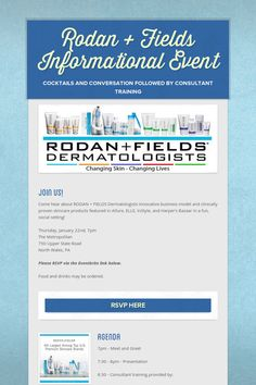 Rodan + Fields Informational Event, North Wales, PA