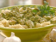 Chicken with Pistachio-Parsley Pesto recipe from Robin Miller via Food Network