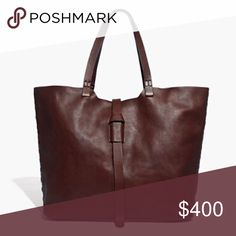 """NWT Madewell Marin Tote Bag in Rich Brown A hard to find favorite in a gorgeous, mahogany rich brown color, deeper than English saddle. The perfect cary all! This bag is new, never used, but there are natural variations in the leather, which is normal for Madewell bags.  approximate measurements 8.25"""" handle drop 13.5""""h x 15""""w x 7""""d  ❌ Sorry, no trades. Madewell Bags Totes"""