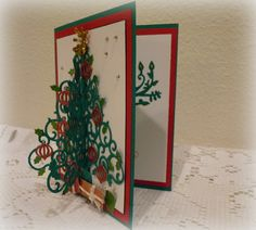 Spellbinders Dies and 3D Christmas Cards for the holiday season. Nothin' better than doing a little cardmaking in the winter!
