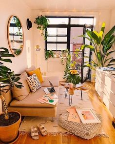 Modern Bohemian Home Interior Decor Ideas. Inspirational Modern Bohemian Home Interior Decor Ideas. Boho Chic Style Living Room Modern Bohemian Home Decor Boho Living Room, Home And Living, Living Spaces, Cozy Living, Dog Spaces, Modern Living, Bohemian Living, Living Room No Couch, Small Bedroom With Couch