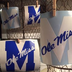 A personal favorite from my Etsy shop https://www.etsy.com/listing/251779244/ole-miss-decal