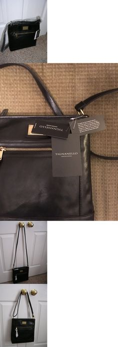 Women Handbags and Purses: Tignanello Women S Purse Handbag Convertible Shoulder Cross-Body Bag Leather Blk -> BUY IT NOW ONLY: $34.99 on eBay!
