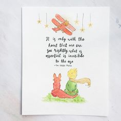 The little prince - little prince fox - fox quote - watercolor print