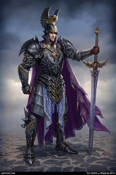 EX.GODS by Grafit, via Behance. These are stunning character depictions of armor and weapons.