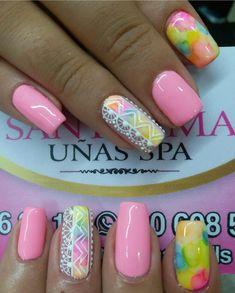 Fancy Nail Art, Fancy Nails, Cute Acrylic Nails, Nail Inspo, Dyed Hair, Nail Designs, Nail Polish, Instagram Posts, Almond