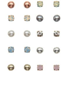 20 x Multi Mini Stud Earring Set | Multi | Accessorize, £8