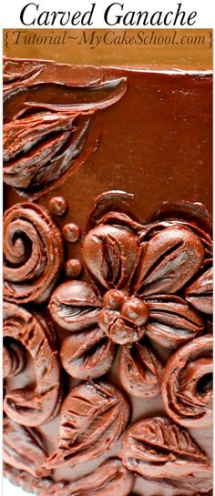 In this cake video tutorial, you will learn how to make ganache, and how to create a beautiful carved effect.